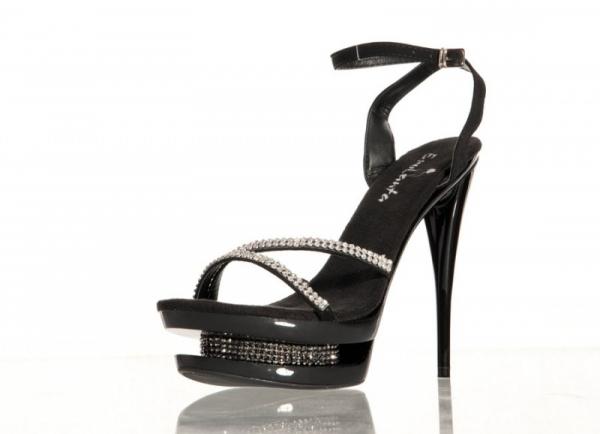 купить Черные туфли на шпильках со стразами NoName онлайн в интернет магазине Салон эротического белья - аптека и